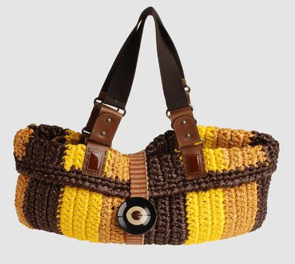 Вязаная сумка крючком - Сервис тематических изображений.