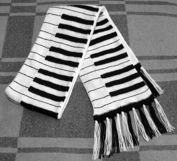 вязание мужского шарфа