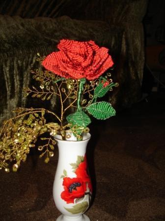 ваза из бисера - Мир бисероплетения.