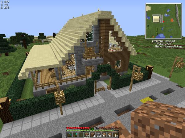 Minecraft домов чертежи