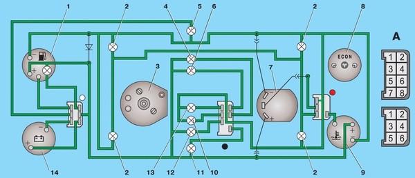 Ваз 21074 Электросхема