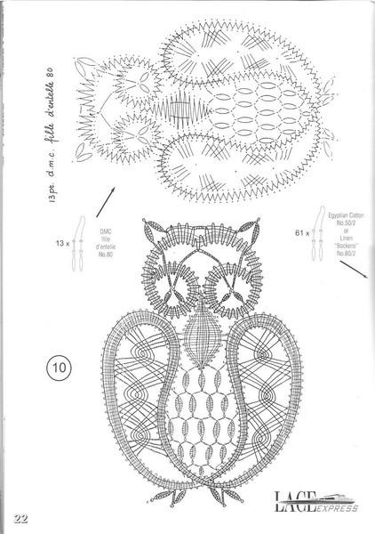 """罗马尼亚花边:""""几个动物图案"""" - maomao - 我随心动"""