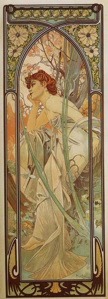 Альфонс Муха Вечерняя задумчивость Из серии Время суток. 1899.