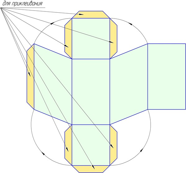 Как сделать параллелепипед из бумаги своими руками
