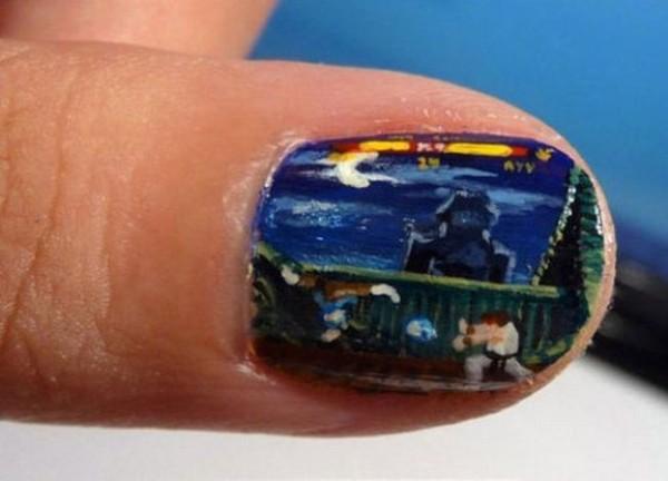 Смехота-23 Раскрасила ногти под компьютерную игру