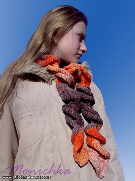шарф-спиралька