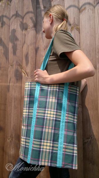 Эко-сумка бязевая двухцветная