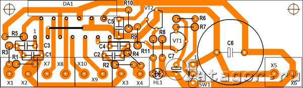 tda 8560 монтажная плата усилителя - Практическая схемотехника.