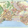 Карта Маріуполя (колишній Жданов) з атласу автомобільних доріг.  Схема транзитного проїзду через м.Маріуполь...