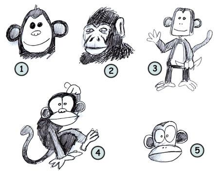 Помогите нарисовать обезьянку