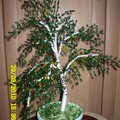 538 просмотра. torosah. нра. дерево объёмное. плетение петельное. зелёный.