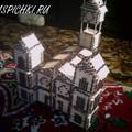Вот, собирайте и Вы такую же церковь.  Церковь из спичек с красной крышей от sotnic78.