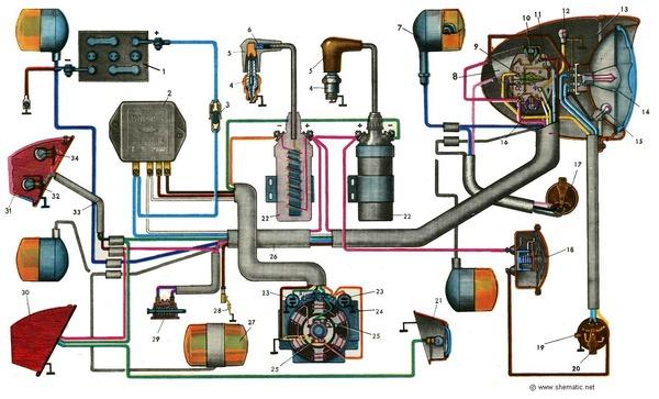схема принципиальная электрическая ампервольтомметра ц-20-5