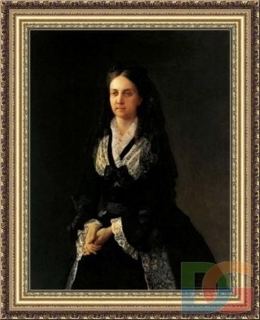 Фото Н. Ге Портрет В.А. Кочубей 1874