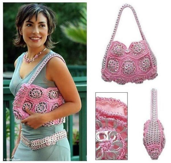 Вязаные сумки мода красота и стиль