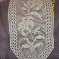 дорожка.  Лилии крючком. филейное вязание.  Лариса Ковалева. лилии.  Связано было очень давно.
