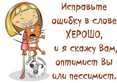 Вы отпимист или пессимист? Проверьте! ))