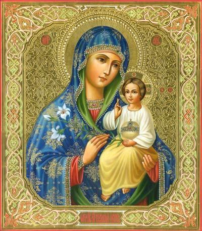 """Икона Божьей Матери -  """"Неувядаемый цвет """" 16 апреля- день памяти этой иконы.  Ей молятся за сохранение супружеских пар..."""