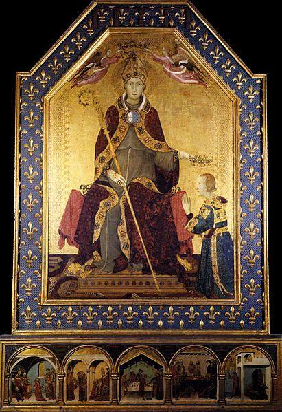 святой отказывается от прав на корону Неаполя, уступая их своему младшему брату Роберту