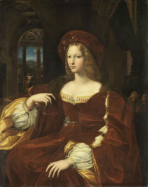 В 1518 году Рафаэль написал маслом по дереву портрет девушки