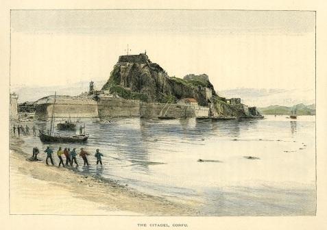 Корфу, цитадель (рисунок - конец 19-го века)