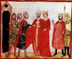 Свадьба Фридриха и Иоланды Иерусалимской