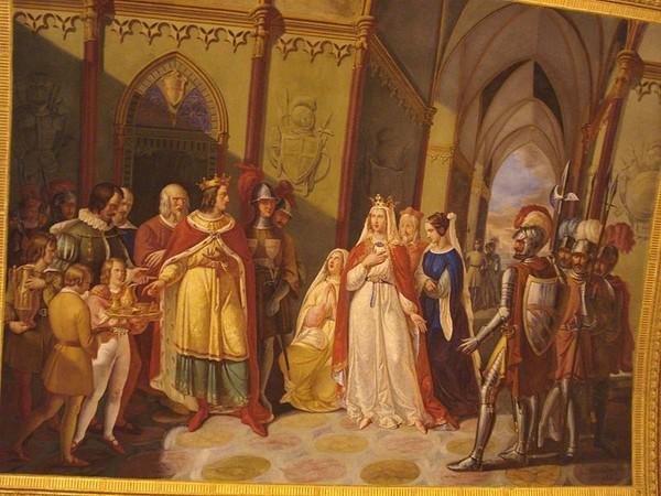 Великодушный Танкред освобождает императрицу Констанцию»