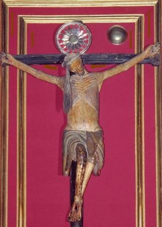 Но... Распятый Иисус склонил голову на правое плечо