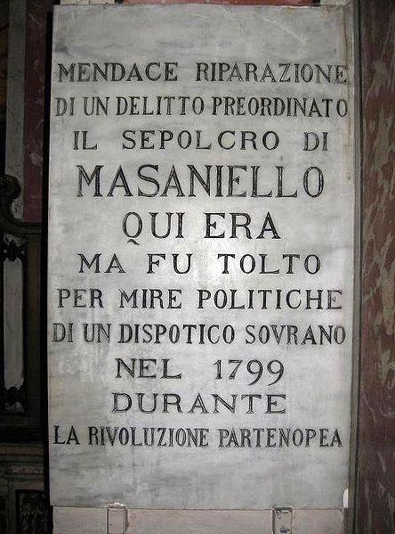Но Мазаньелло остался в памяти и в душах неаполитанцев навсегда.