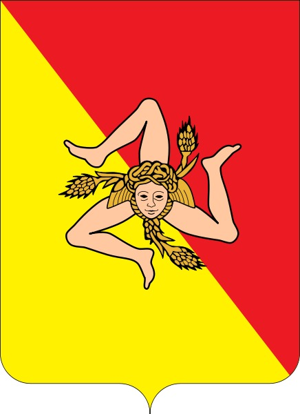 В те годы был принят герб Сицилии, один из самых старых на планете