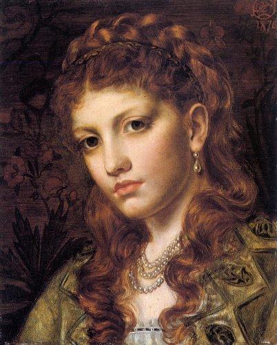 Фьямметта – этот портрет написала в 1876 году англичанка Emma Sandys