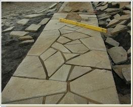 кладка плоского камня