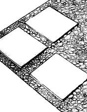 мощение дорожки бетонными плитами
