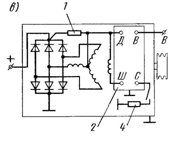 подключение генератора ямз 238