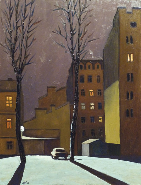 Frosty evening. oil on canvas, 60x80 cm., 2012.
