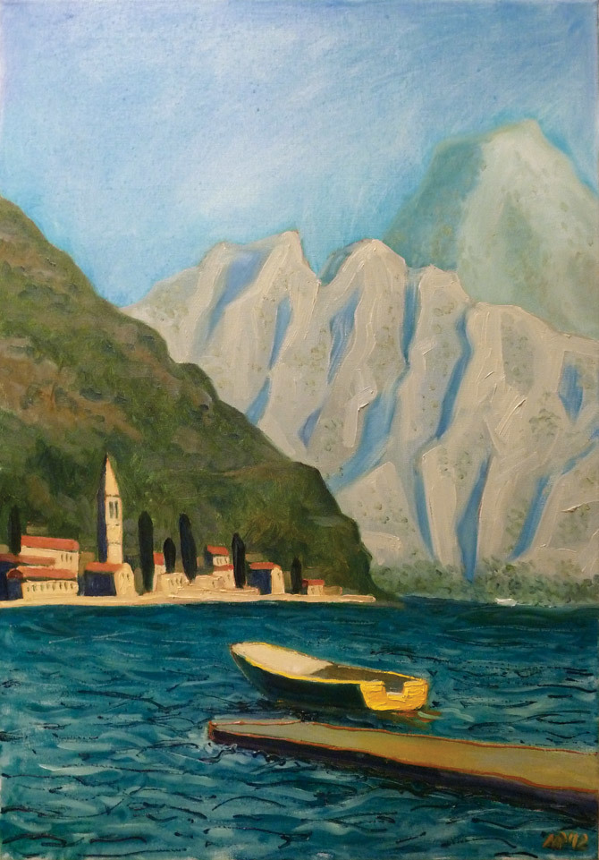 Kotor Bay. oil on canvas, 50x70 cm., 2012.
