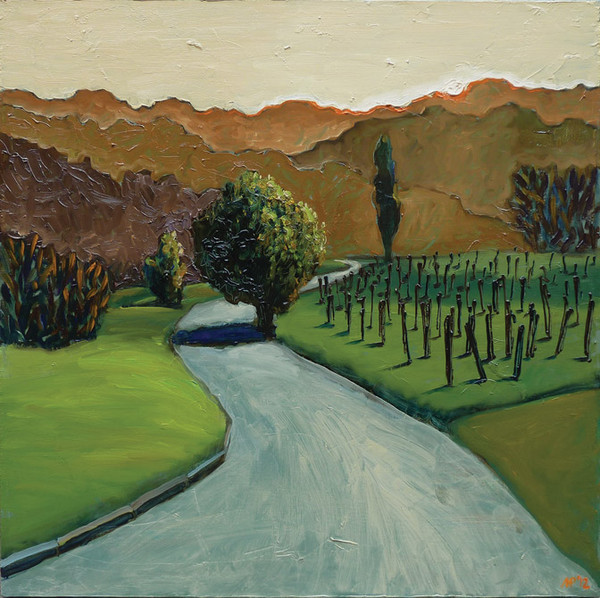 Tuscan sunset. oil on canvas, 60x60 cm., 2012.