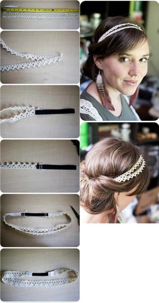 Сделать повязку на волосы своими руками