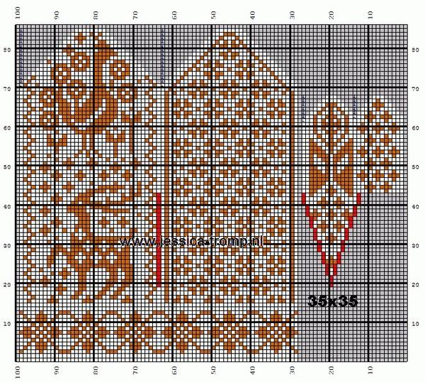 Варежки жаккардовым узором со схемами: делаем спицами красивую вещь
