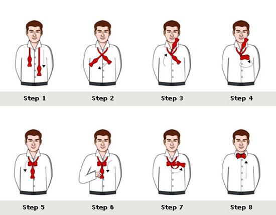 Завязываниякак правильно завязать галстука узлы.  Отсутствие схемы завязывания сегодня способ.  Мужчины янв фото как.