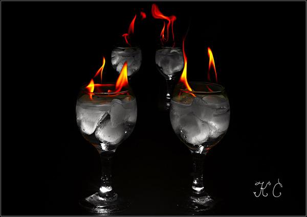 Фото огненный коктейль.