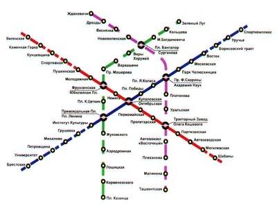 Вот еще одна схема линий метро