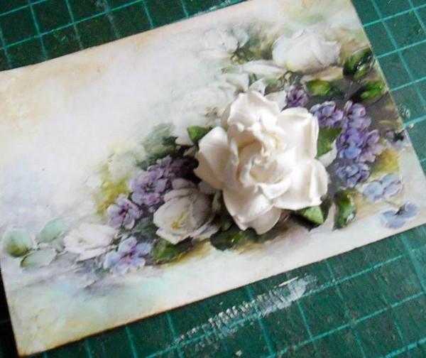 Нарисованные открытки с цветами