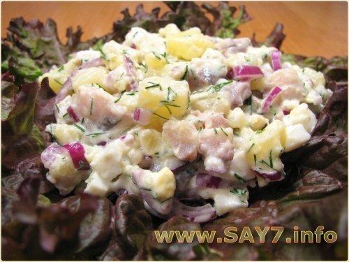 Салат с селедкой картофелем рецепт