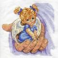 """Схема вышивки  """"Ангелочек 4 """" ."""