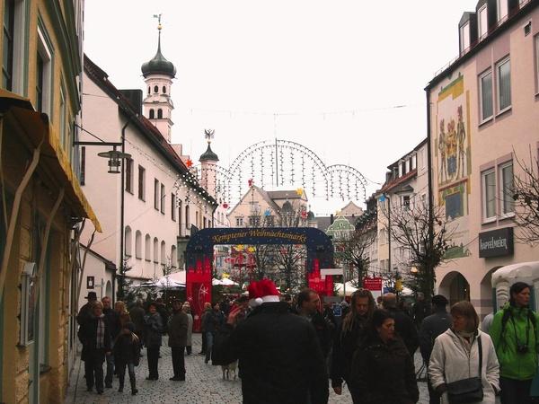 Рождественский рынок в Кемтене