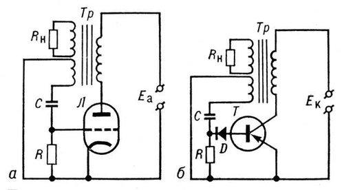 схему блокинг-генератора с