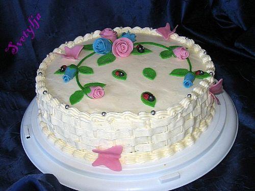 Украшения из мастики (сахарной глазури) для тортов.Цветочки.