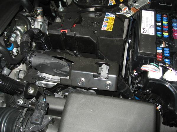 mazda 3 club установка сигнализации замок на капот