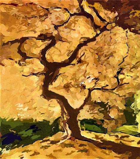 Как нарисовать пейзаж осени